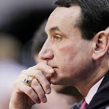 A depressed Coach K after getting schooled by Mark Turgeon