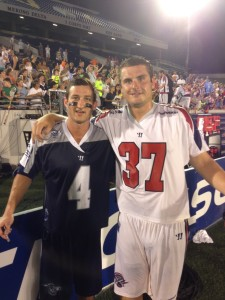 Dan Burns (#4) and Brian Farrell