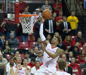 Nick Faust Goes in for layup    Photo courtesy of Kevin Yant